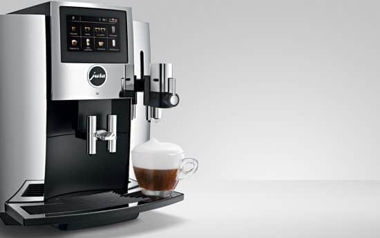 Jura S8 chroom zijkant Coffeeboon