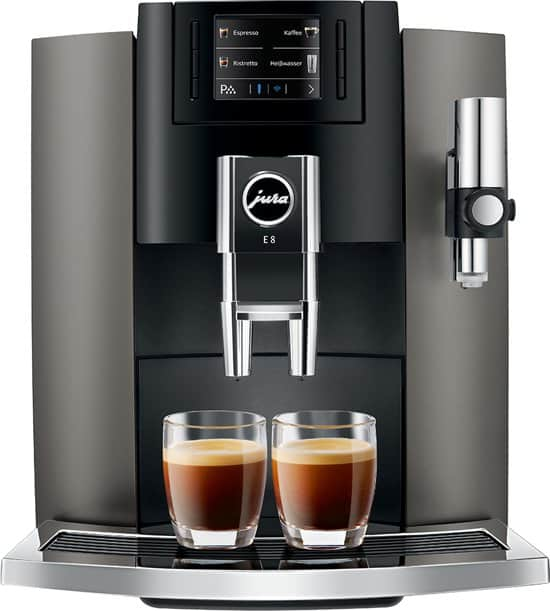Jura E8 Dark Inox koffiemachine - Coffeeboon